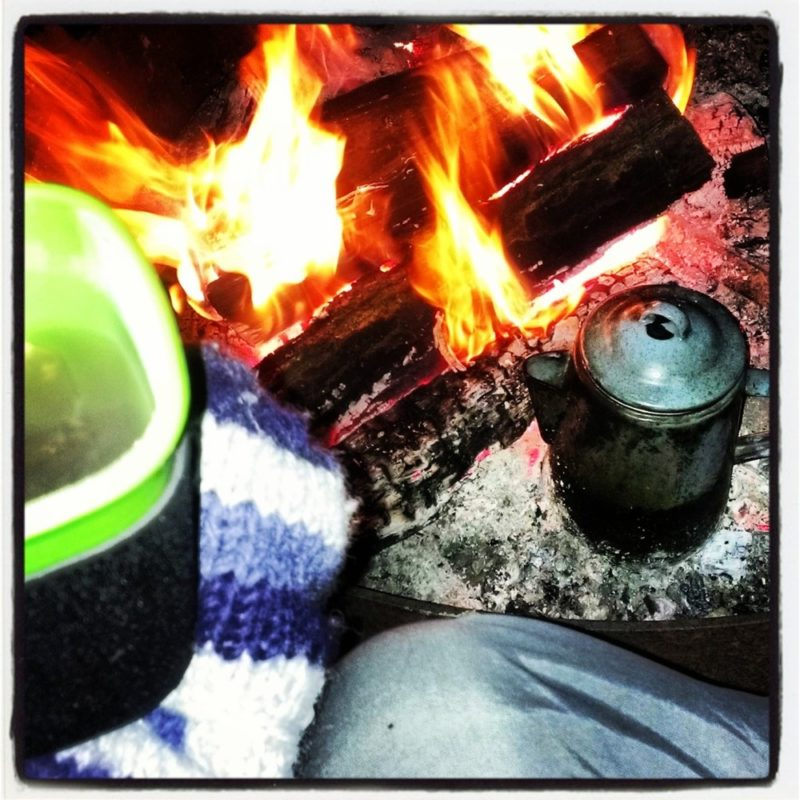 Hot Drinks, Fire and Mittens